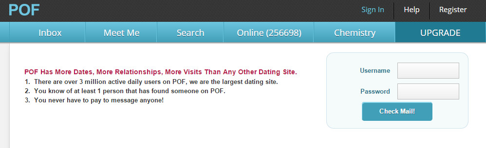 Pof dating site sign in